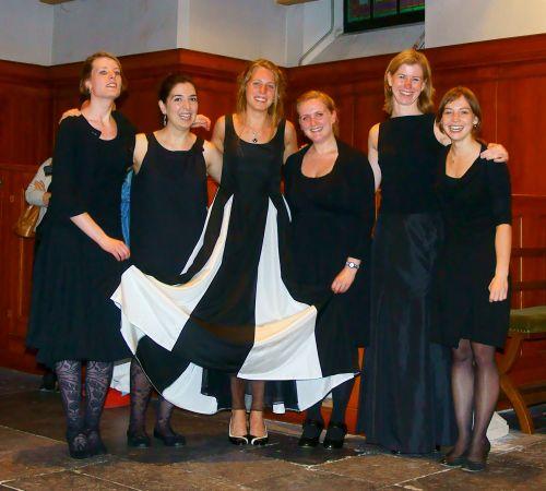 Alle ensembleleden van het Master eindexamen juli 2012